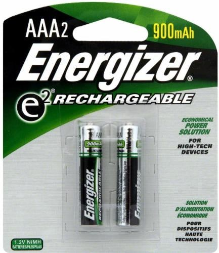 Energizer E2 Rechargeable 900mAh Battery - 2 Pack - AAA Perspective: front