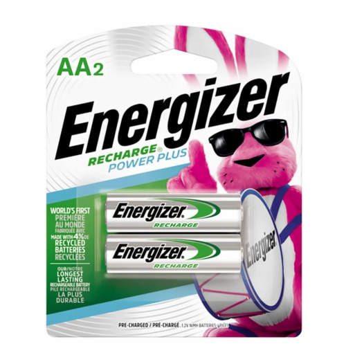 Energizer Rechargeable AA Batteries Perspective: front