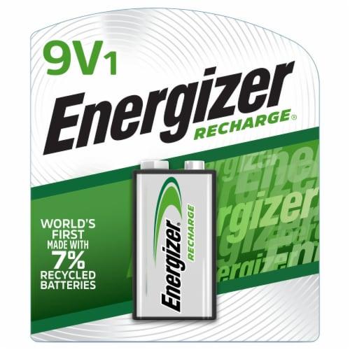 Energizer Recharge® 9V Battery Perspective: front