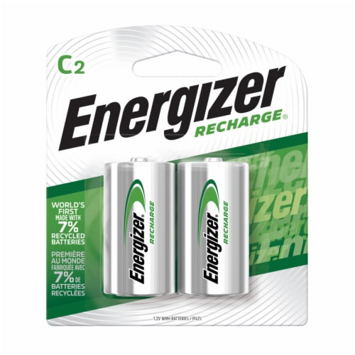 Nimh Rechargeable C Batteries 1.2V 2 Per Pack | 1 Pack of: 2 Perspective: front