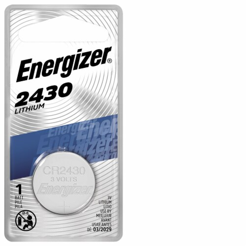 Energizer® 3-Volt 2430 Lithium Coin Battery Perspective: front