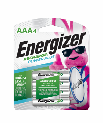 Energizer® Rechargeable AAA Batteries Perspective: front