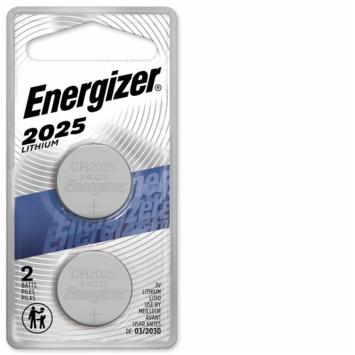 Energizer® 2025 Lithium Coin Battery Perspective: front