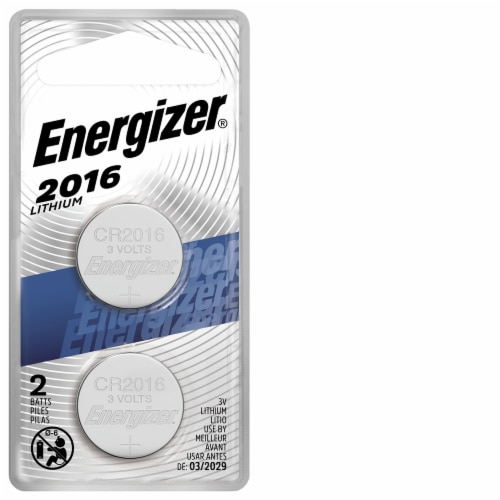 Energizer® 2016 3-Volt Lithium Coin Batteries Perspective: front