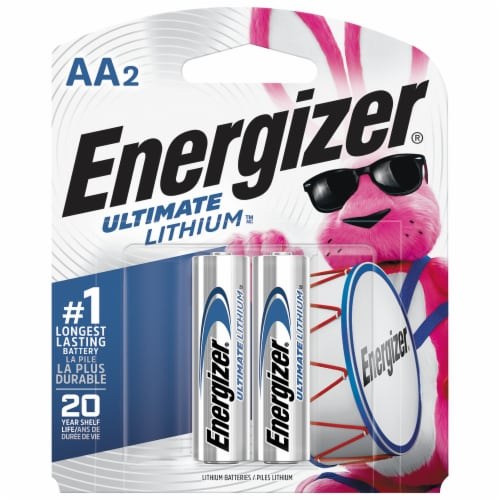 Energizer® E2® AA Lithium Batteries Perspective: front