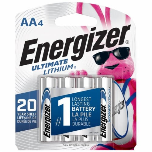 Energizer® Ultimate Lithium AA Batteries Perspective: front