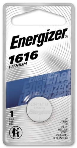 Energizer® 1616 Lithium Coin Battery Perspective: front