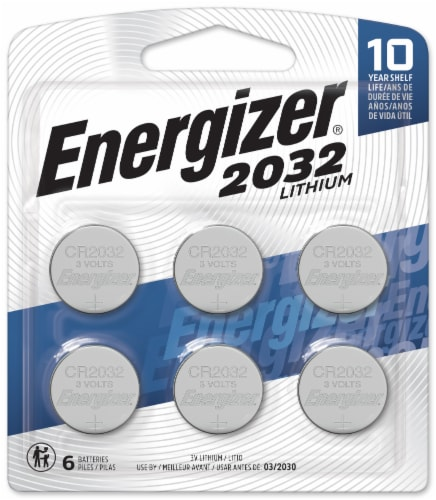 Energizer 2032 3V Lithium Batteries Perspective: front
