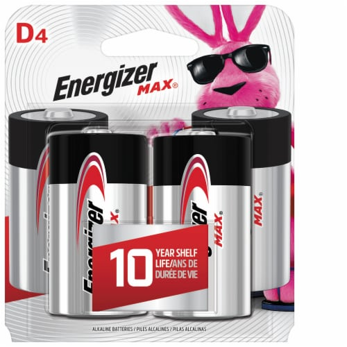 Energizer® Max® D Alkaline Batteries Perspective: front