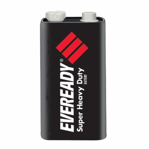 Eveready® Super Heavy Duty 9-Volt Battery Perspective: front