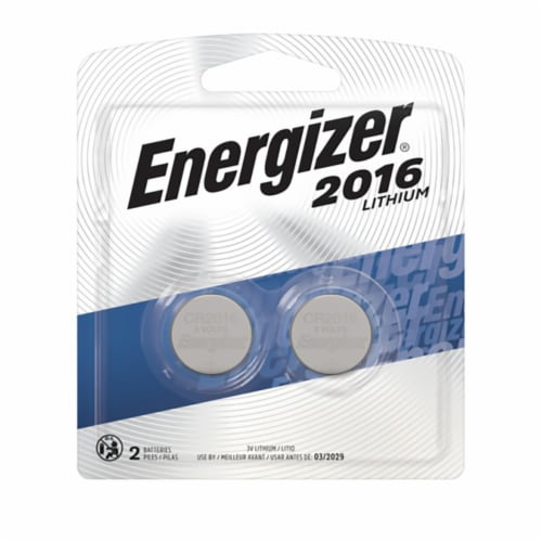 2016 Lithium Coin Battery 3V 2 Per Pack | 1 Pack of: 2 Perspective: front