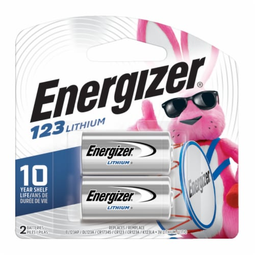 Energizer 123 Lithium 3-Volt Battery Perspective: front