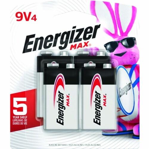 Energizer MAX® 9-Volt Alkaline Batteries Perspective: front