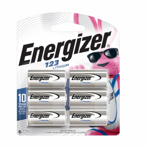 Energizer® 123 Lithium Photo Batteries Perspective: front