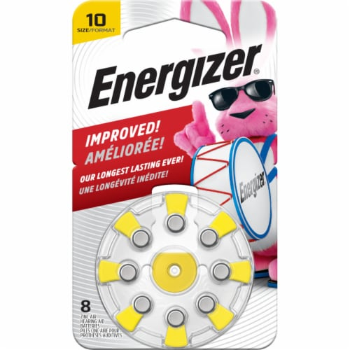 Energizer® Size 10 EZ Turn and Lock Hearing Aid Batteries Perspective: front