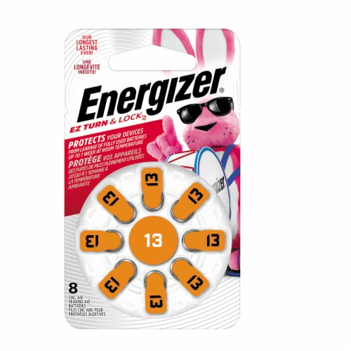 Energizer® EZ Turn and Lock Size 13 Hearing Aid Batteries Perspective: front