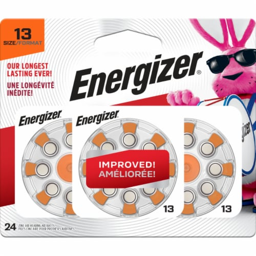Energizer® Size 13 EZ Turn and Lock Hearing Aid Batteries Perspective: front