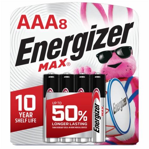 Energizer® Max® AAA Alkaline Batteries Perspective: front