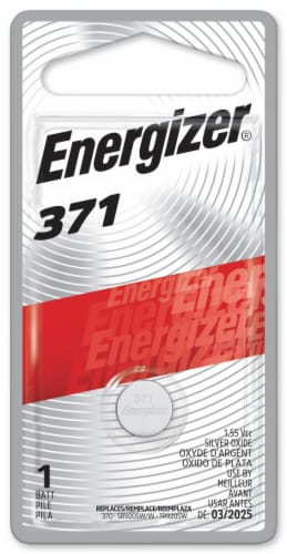 Energizer® 371 Silver Oxide Battery Perspective: front
