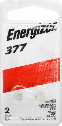 Energizer® 377 Silver Oxide 1.5-Volt Coin Battery Perspective: front