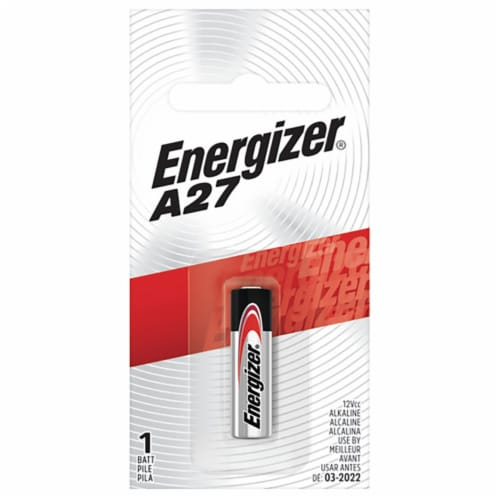 Energizer Alkaline A27 12 volt Electronics Battery 1 pk - Case Of: 1; Each Pack Qty: 1; Perspective: front