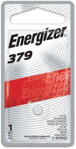 Energizer 379 Watch Battery Perspective: front