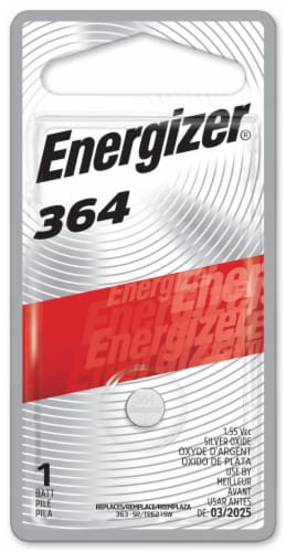 Energizer® 364 Silver Oxide Battery Perspective: front