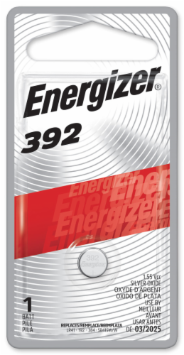 Energizer® 392 Silver Oxide Battery Perspective: front
