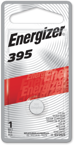 Energizer 395 1.5-Volt Coin Battery Perspective: front
