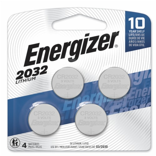 Energizer 2032 3-Volt Lithium Coin Batteries Perspective: front