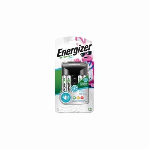 Energizer® Recharge® Pro Charger with AA Batteries Perspective: front