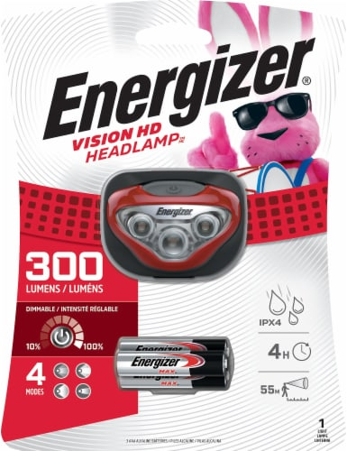 Energizer Vision LED Headlight - Red Perspective: front