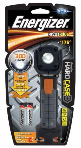 Energizer® PivotPlus LED Black Hard Case Flashlight Perspective: front