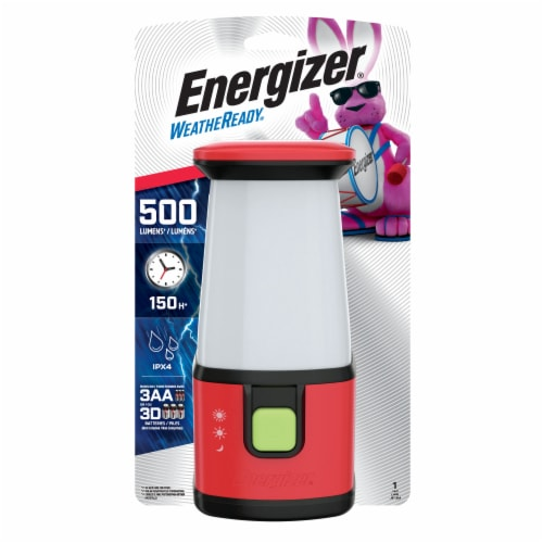 Energizer® Weatheready® 360° LED Lantern - Red Perspective: front