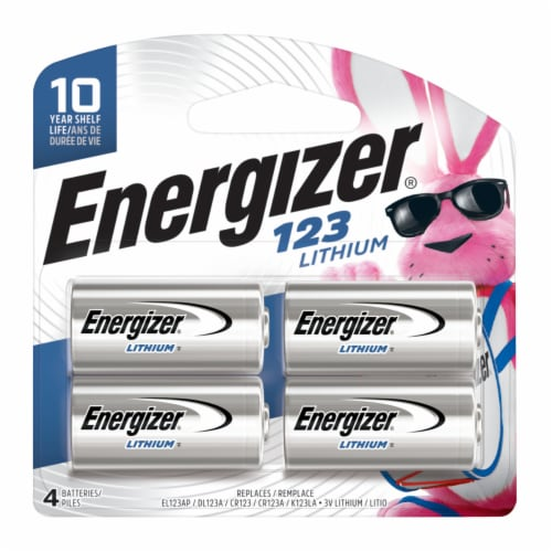 Energizer® Lithium 123 Batteries Perspective: front