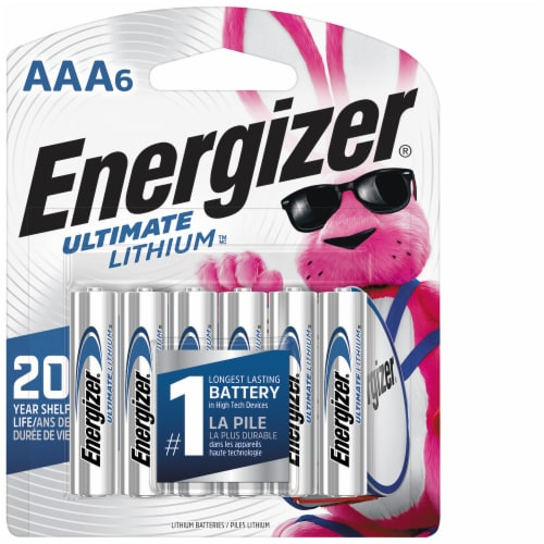 Energizer® Ultimate Lithium AAA Batteries Perspective: front