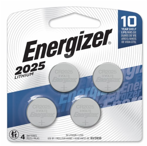 Energizer® 2025 Lithium Mini Batteries Perspective: front