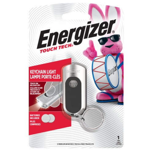 Energizer® Keychain Light - Black Perspective: front