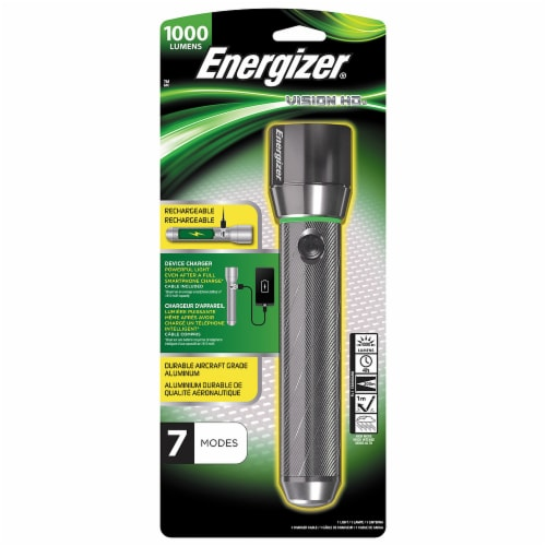 Energizer® Vision HD Rechargeable Flashlight - Black Perspective: front