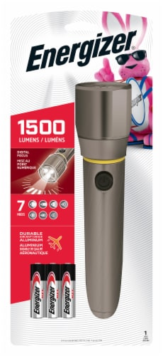Energizer® 1500 Lumens Flashlight - Gray Perspective: front