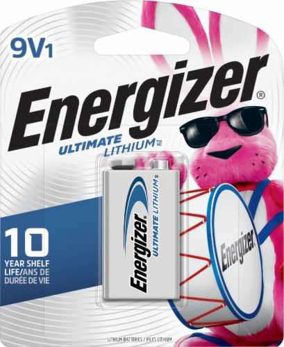 Energizer® Ultimate Lithium 9-Volt Battery Perspective: front