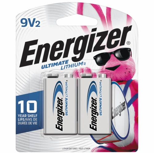 Energizer® Ultimate Lithium 9-Volt Batteries Perspective: front