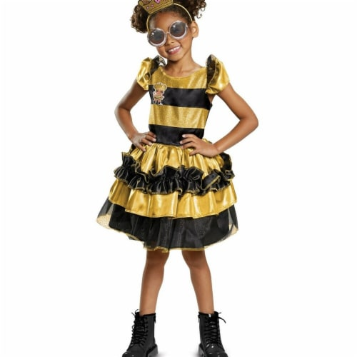 Disguise 276034 Halloween L.O.L Dolls Queen Bee Deluxe Child Costume - Small Perspective: front