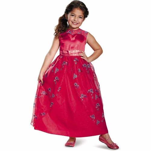 Disguise Elena Ball Gown Classic Elena of Avalor Disney Costume, X-Small/3T-4T Perspective: front