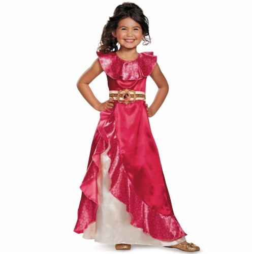 Disguise Elena Adventure Dress Classic Elena of Avalor Disney Costume, XS/3T-4T Perspective: front