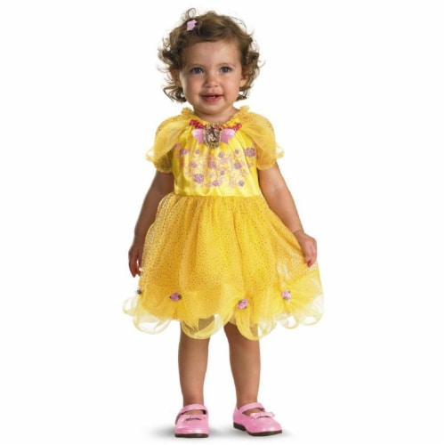 Disguise Baby Girl's Disney Beauty and The Beast Belle Costume, Yellow, 12-18 Months Perspective: front