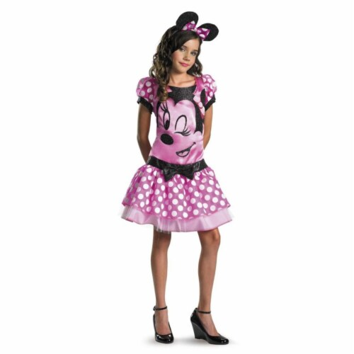 Costumes For All Occasions DG11399H Minnie Mouse Plus - Pink Perspective: front