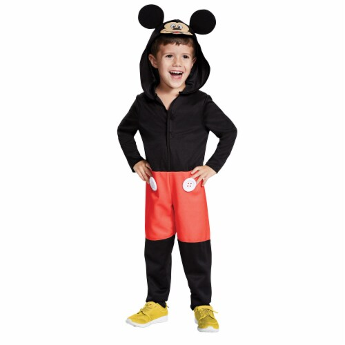 Morris Costumes DG12000S Mickey Mouse Toddler Costume, Size 2T Perspective: front