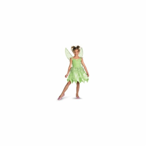 Disguise 187359 Tink and the Fairy Rescue- Tinkerbell Classic Child Costume Size: Small (4-6X Perspective: front