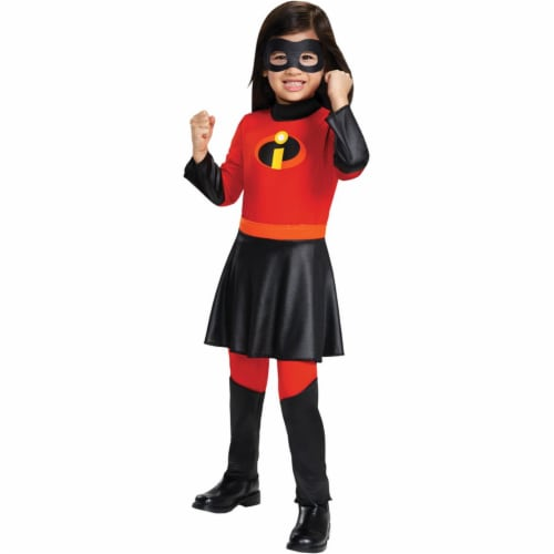Disguise DG12539S Violet Jumpsuit Deluxe Toddler Costume Perspective: front